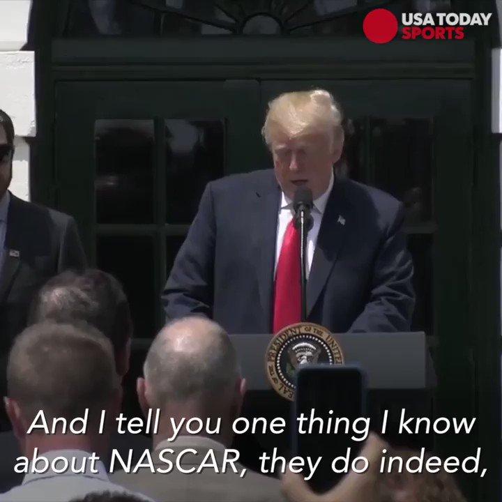 Donald Trump trolls national anthem protests at NASCAR champion WH visit