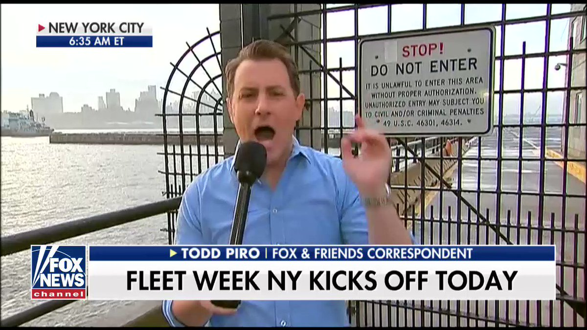 Fleet week kicking off with parade of ships in New York https://t.co/bxIN4L61BQ