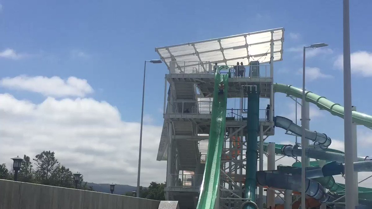 Image for the Tweet beginning: Emerald Plunge waterslide reopens today