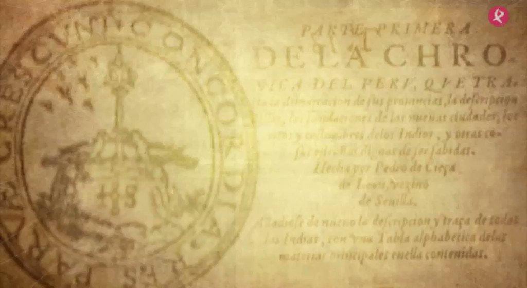 """🤔¿Sabías que """"Crónica del Perú"""" se convirtió en uno de los grandes testimonios escritos de la América del siglo XVI?  #EXN https://t.co/YWUmOGD5m8"""