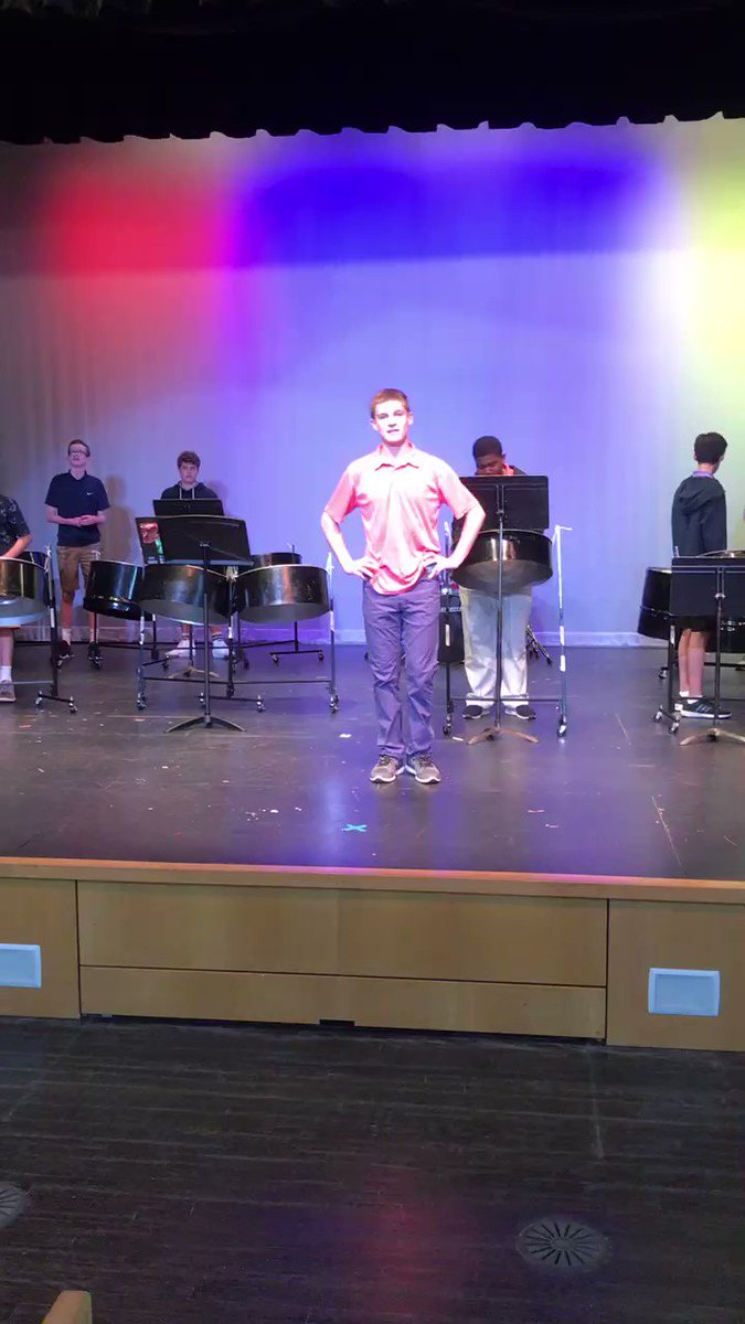 Hey,@FennSchool steel drum band...thanks for the shout out!