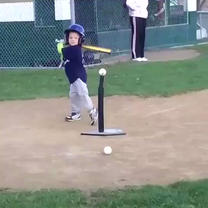 Kids playing baseball is so pure 😂
