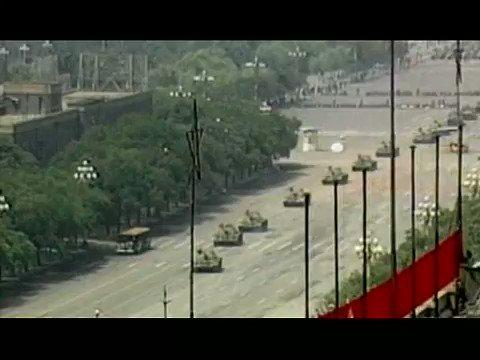 'Tank Man': the full footage.  Tiananmen Square, Beijing, 1989