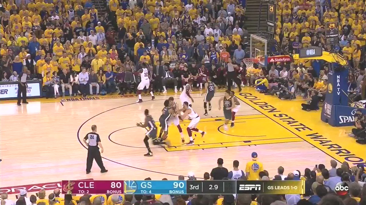 Stephen Curry and Kendrick Perkins come nose to nose in Game 2 confrontation