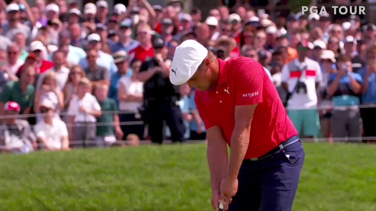 That was fist-shaking, hand-shaking fun, @b_dechambeau! It was also our honor to have you as our @MemorialGolf winner! You admittedly didn't have your best today, but I actually admire and appreciate that path to victory even more! 👏🏼 🏆 #PGATOUR