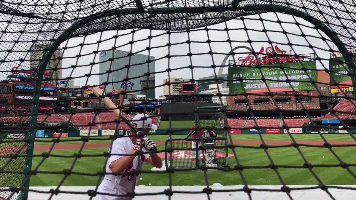 Major Champion BP.  @JustinThomas34 @Cardinals https://t.co/EOnu7T71Tg