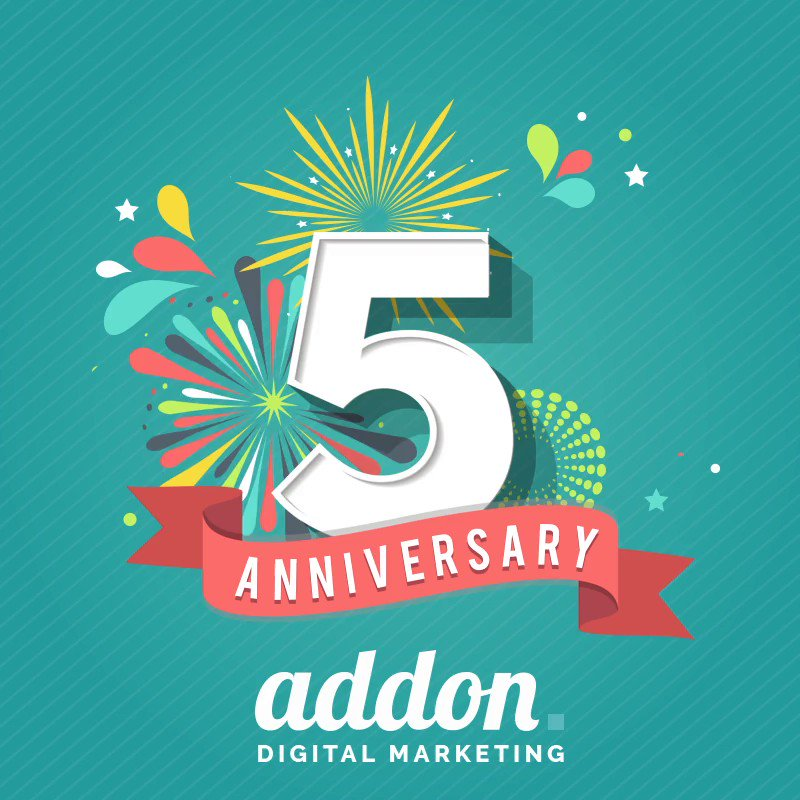 Time certainly flies when you're having fun and boy, have we had fun!  To our customers, suppliers and superstar team, thank you for an incredible 5 years! #addon #addondigital #digitalmarketing #socialmediamarketing #socialmediaagency #digitalagency #marketingagency https://t.co/Sdhh3xKATq