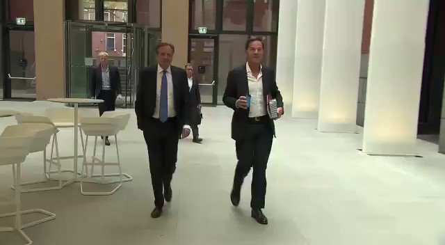 Sometimes Prime Minister can do the job of a sweeper but not in our part of the world only Mark Rutte the Prime Minister of Netherlands can act as a sweeper I am impressed by his humbleness and that's why he is very popular in Dutch people