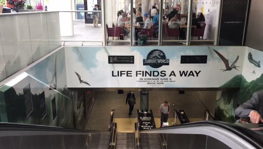 Who is excited for #JurassicWorldFallenKingdom  being realised tomorrow?!   Make sure you take a look at our immersive #audiozone installed in Kings Cross Station, London