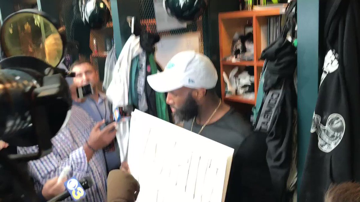 Here's a portion of Malcolm Jenkins' session with reporters. https://t.co/LDZv9ZyrDg