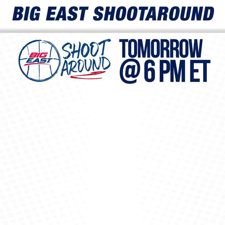 BIG EAST Shootaround is BACK in a big way! Tune in to @BIGEAST on Twitter at a special 6 pm ET time tomorrow. ➡️ Offseason @NovaMBB Update with @VUCoachJWright ➡️ @JonRothstein with a #BIGEASThoops outlook ➡️ Donte DiVincenzo Draft Profile ➡️ Big week for @StJohnsBBall