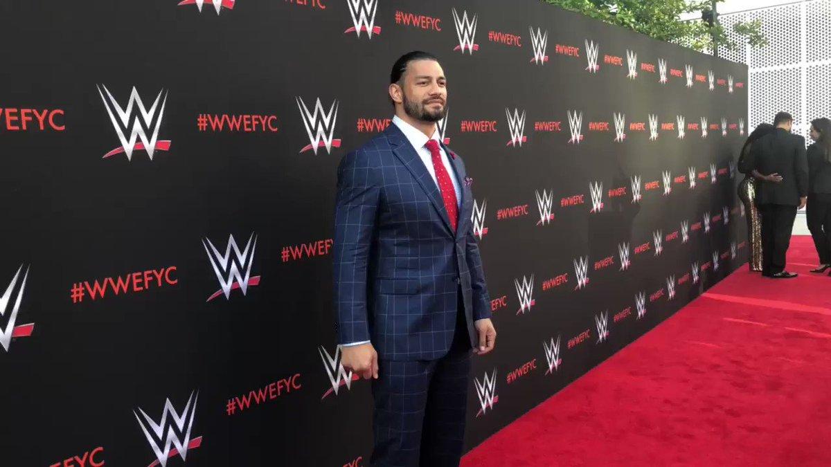 #TheBigDog @WWERomanReigns walks the red carpet at #WWEFYC!