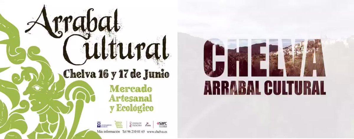 El próximo finde de semana en #chelva no te puedes perder el #arrabalcultural @ChelvaTurismo @valenciaturisme @c_valenciana