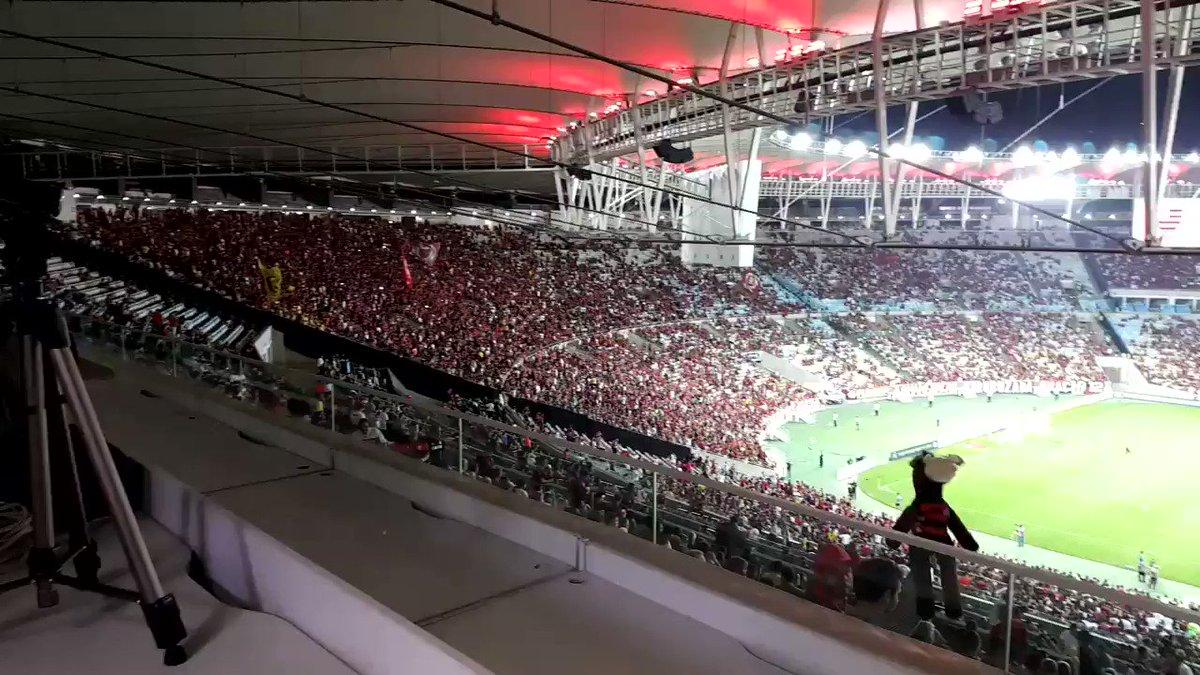 'Fica Vinicius!', a galera grita. #SegueOLider ✌��❤️��❤️ #VamosFlamengo #IssoAquiÉFlamengo #Flamengo https://t.co/gETMhjrijK