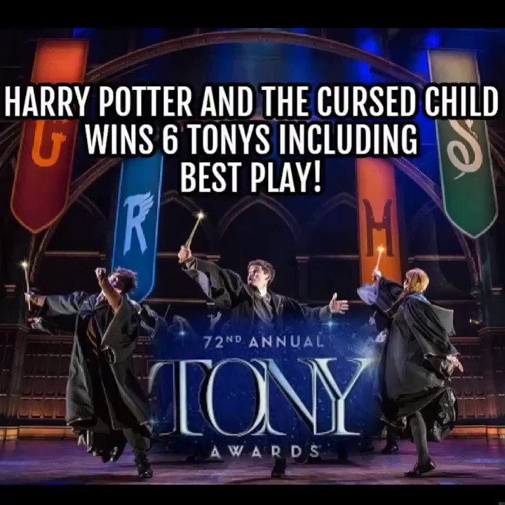 Join us in sending a huge congratulations to the cast, crew and creatives of @HPPlayNYC, who took home SIX awards at the #TonyAwards last night! Catch up with interviews, speeches and coverage from the night here: the-leaky-cauldron.org/2018/06/11/cur… @TheTonyAwards #CursedChild #HarryPotter