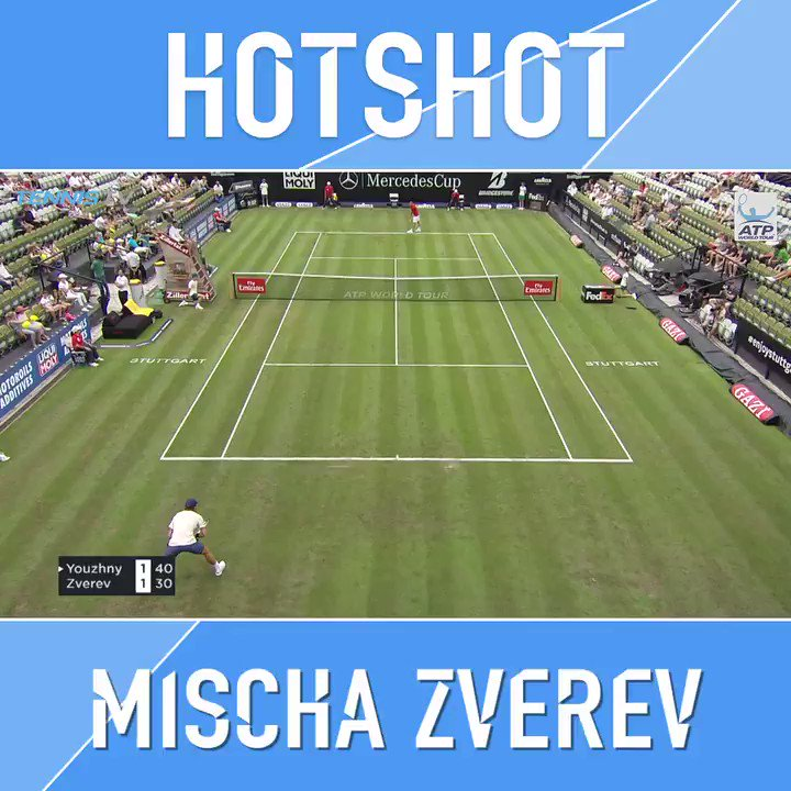 ������  Mischa Zverev putting on a show for his home crowd at @Mercedescup ��    �� for yourself �� https://t.co/6KmG5BXdST