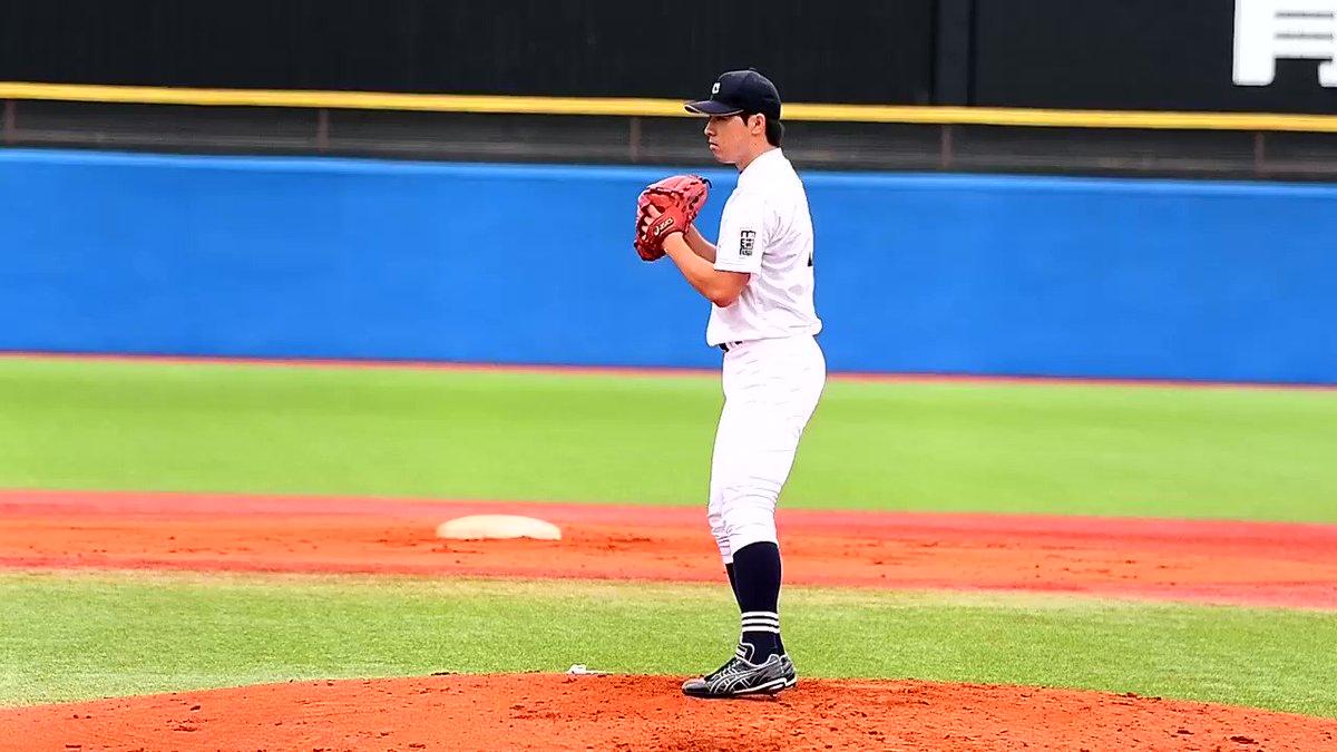 Image for the Tweet beginning: 全日本大学野球選手権大会 中京大 真田 直輝(中京大中京)