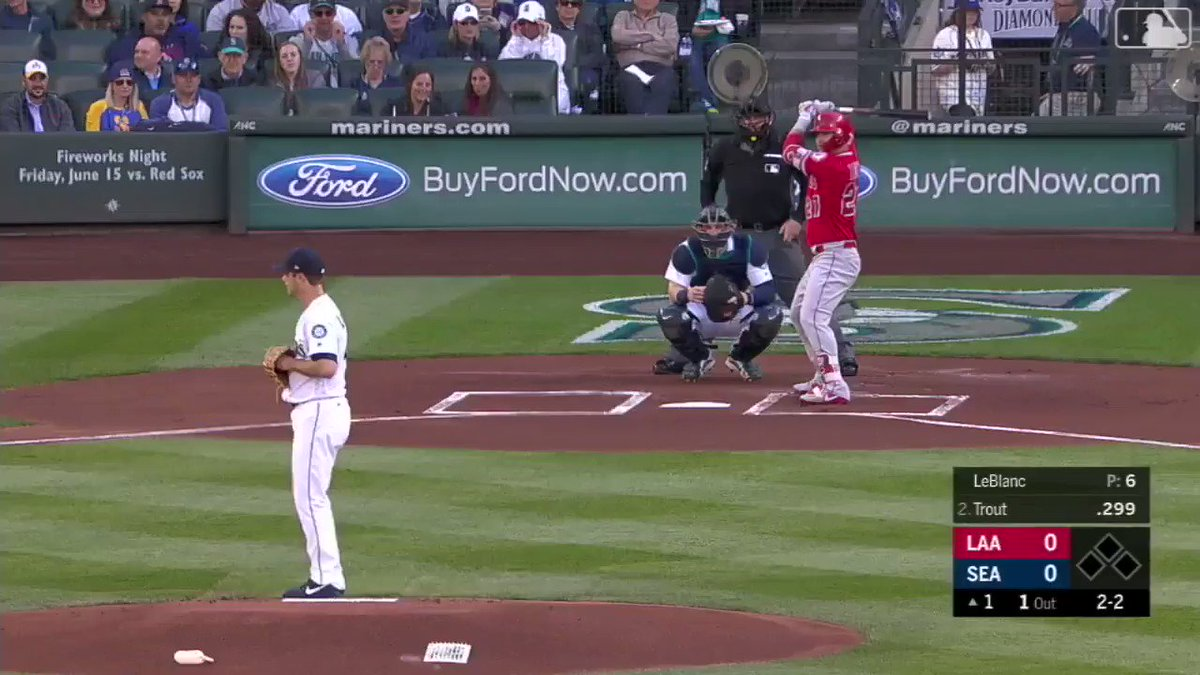 No ball is safe when @MikeTrout comes to Safeco. https://t.co/DDL6wgr2wa