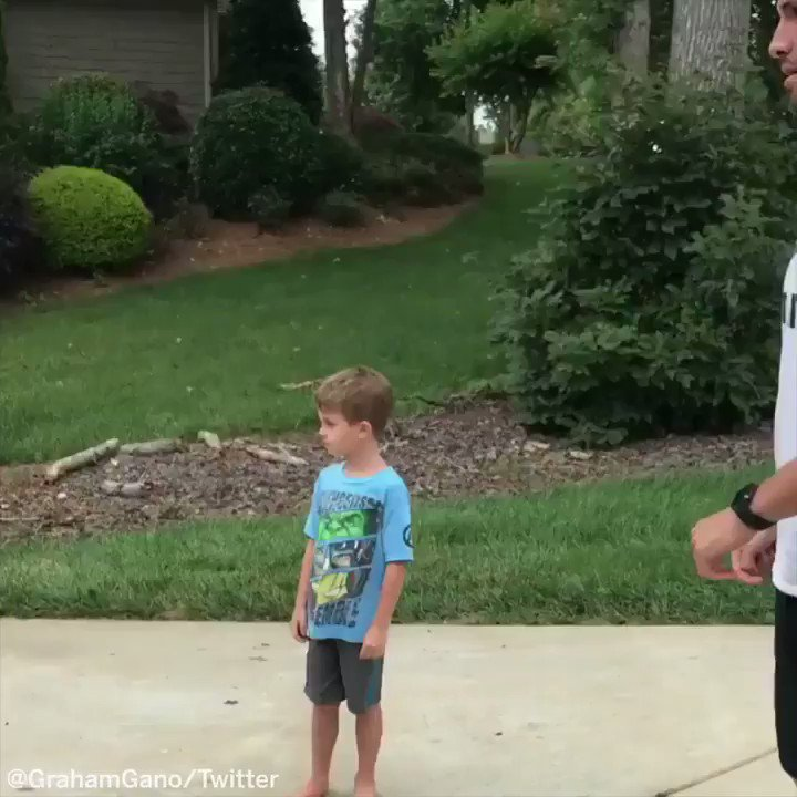 When you want to play kickball with your dad, but hes an NFL kicker. (via @GrahamGano)