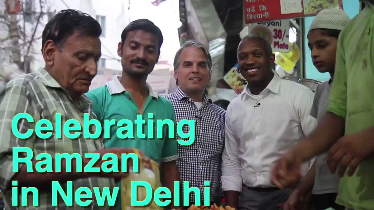 Watch American diplomats Kevin and Allan learn about #Eid celebrations and enjoy #Iftar dinner with their Indian friends. आप सभी को रमज़ान मुबारक! رمضان کریم #RamadanKareem @StateDG