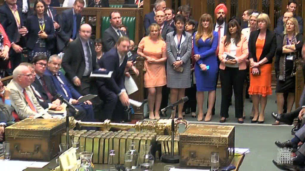 My SNP colleagues and I were treated to the same braying and disrespect that we receive on a continual basis. Scottish Tories told me to sit down. Let me be clear, the SNP shall not sit down and allow the people of Scotland to be treated in this way. #PowerGrab #PMQs
