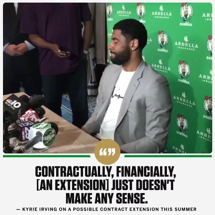 If Kyrie signs an extension this summer, it would be $80 million less than what he could earn if he waits until the summer of 2019.