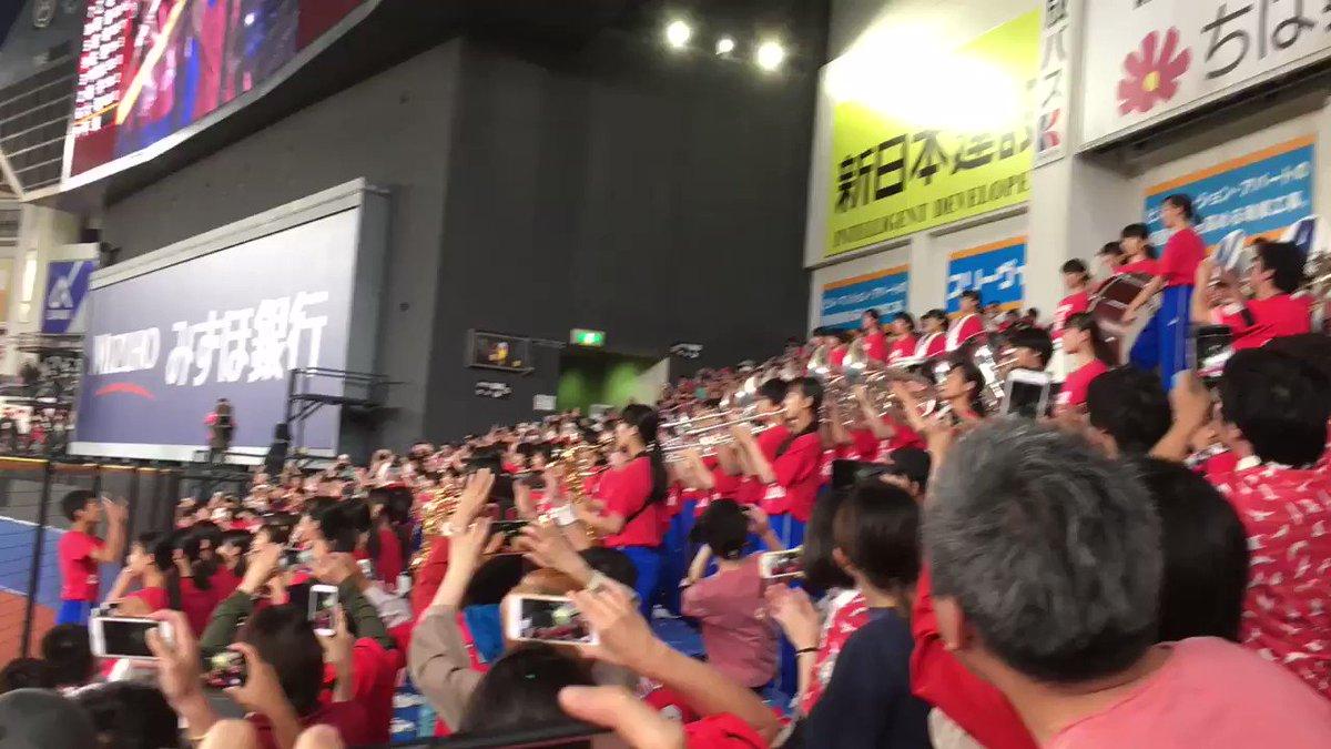 習志野高校吹奏楽部生演奏!! 迫力が凄い!! #chibalotte #千葉ロッテマリーンズ