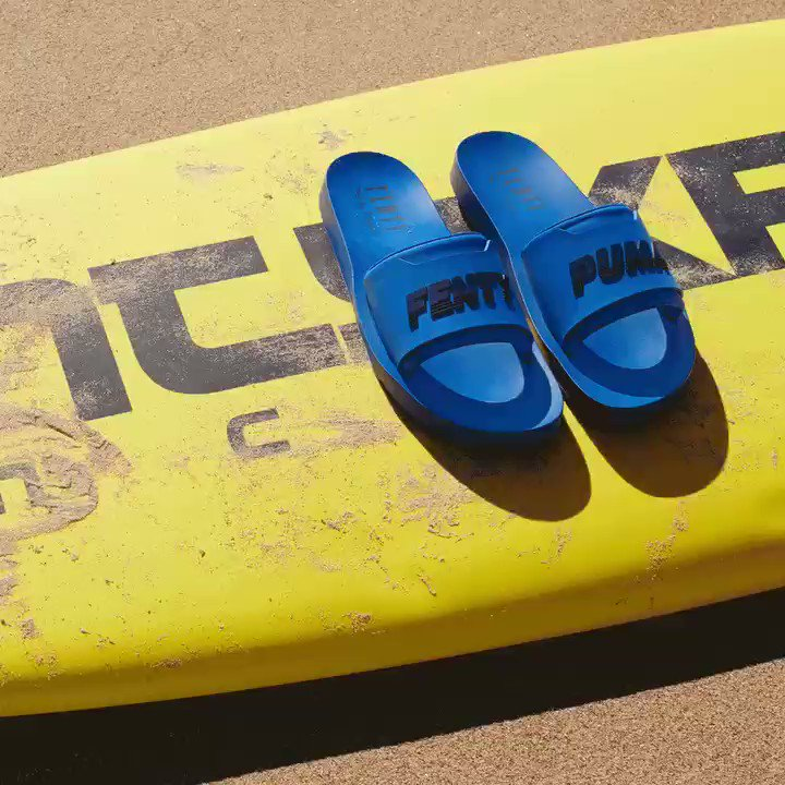 drip drip. the new @fentyxpuma #surfslides are out now! https://t.co/ptA1gkI68y https://t.co/pSkQfFT9Cr