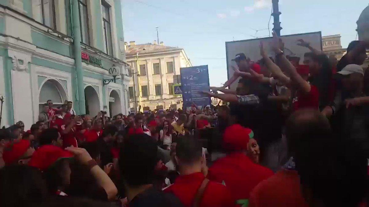 La ferveur des supporters marocains  #Maroc #Mondial2018 #Morocco2018 #AlmarssadPro #FOOTBALL  - FestivalFocus