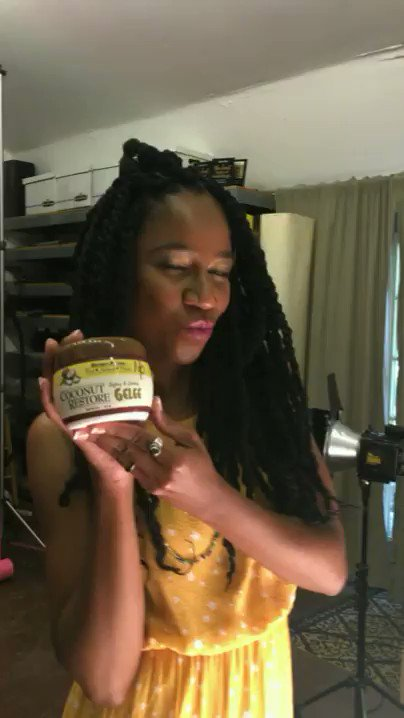 #BTS with @naturallycurly for an upcoming #tutorial #CoconutRestore