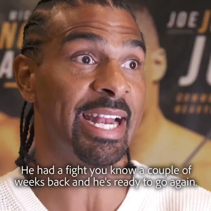Superstar in the making! @mrdavidhaye talks about the presence of @Michaelpage247 and how he is a boxer who delivers inside and outside of the ring. See MVP do what he does best tonight at 9pm on @davechannel.