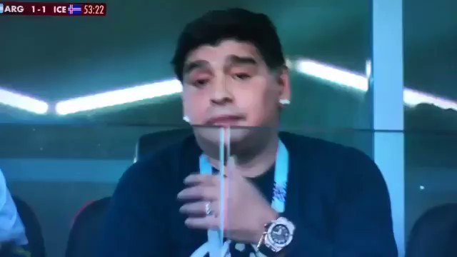 Never forget when Diego Maradona had an awful cold during the World Cup... 👀😂😂