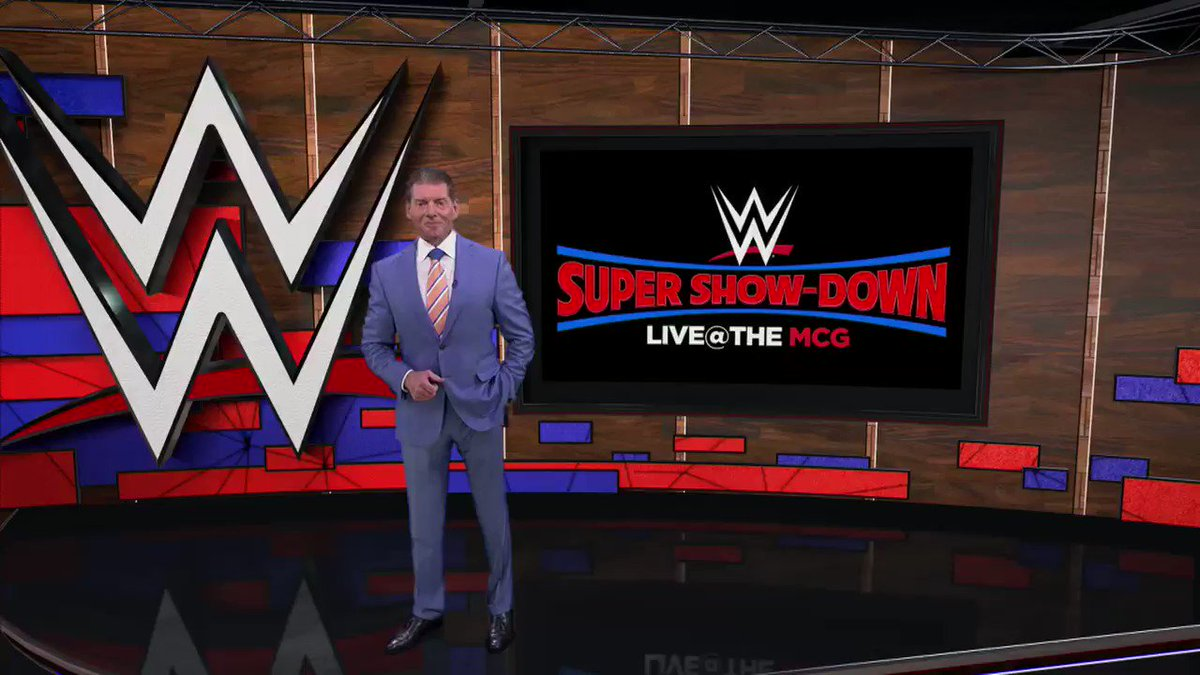 Proud to be making history in Australia with WWE Super Show-Down on Saturday, Oct. 6, at the iconic @MCG.