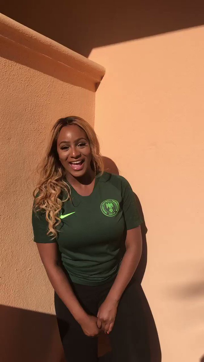 Guys, the Nigeria's first #WorldCup game is TODAY! 🏆 ...Join me in the DSTV #Fanalysis WhatsApp group! Go to ultimatefangroup.com 🌍📲⚽️ Can't wait to have convos with you during the matches! 🙌🏾 Let's gist cupcakes! 💋♥️ #ToCuppyThisTune