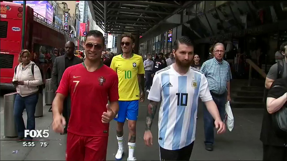 Check out World Cup Soccer Icons hanging out in NYC this past week thanks to @FOXSports