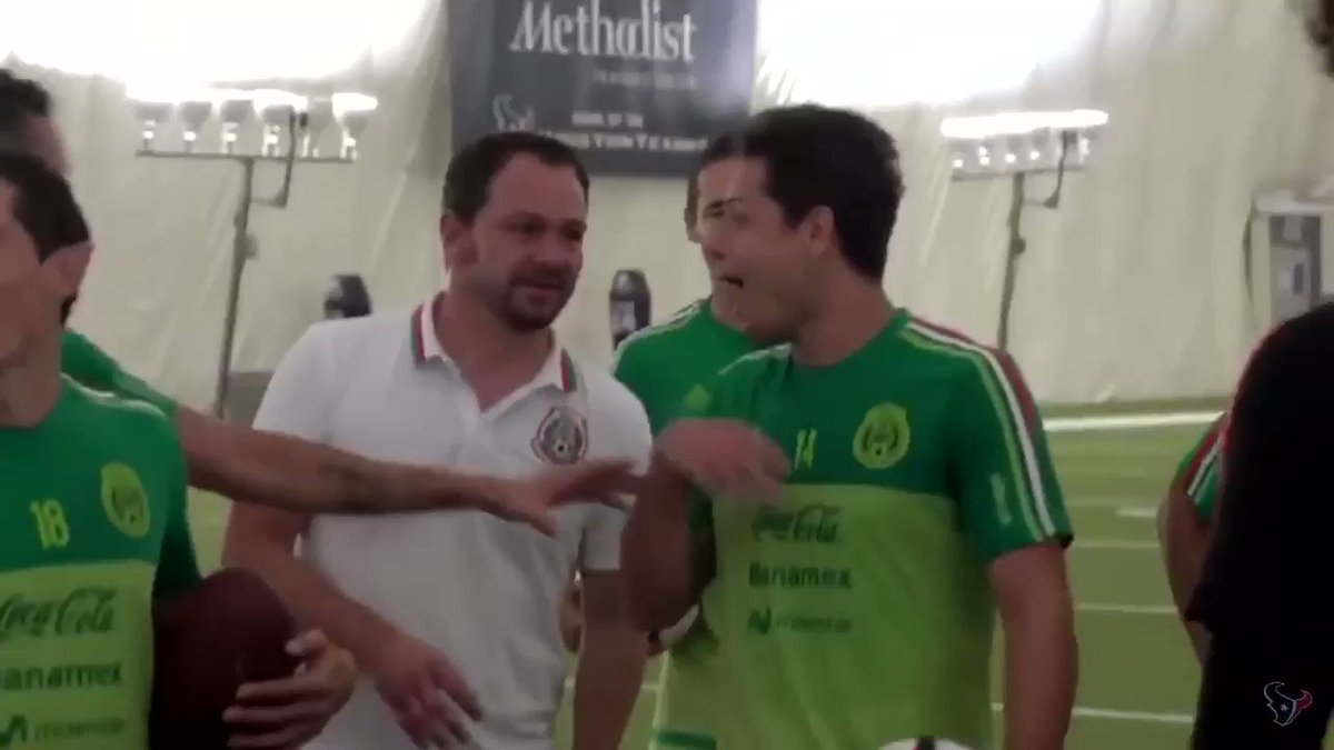 In honor of Mexico playing. remember when Chicharito fangirl over jj watt 😂 #GERMEX