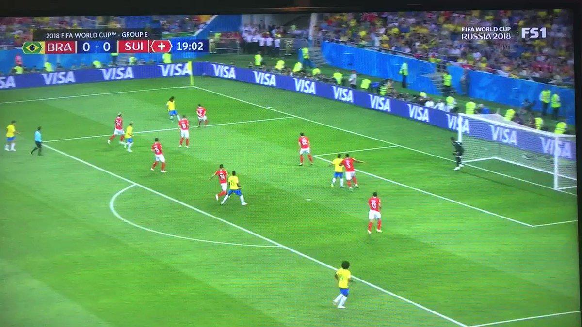 WK Voetbal 2018: Brazilië - Zwitserland 1-0 door Philippe Coutinho