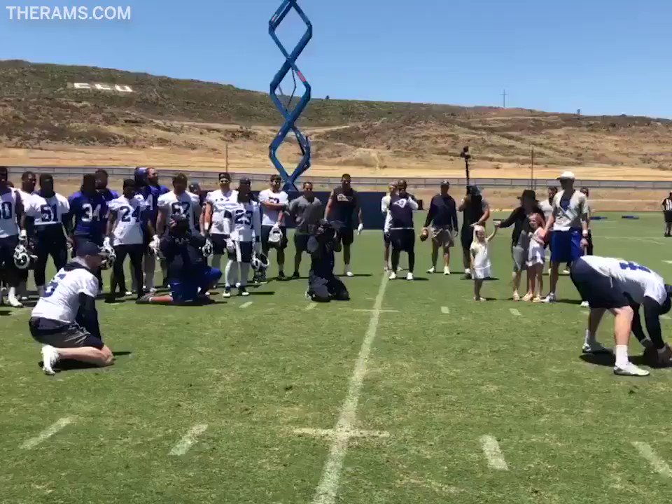The @RamsNFL special teams coordinator, John Fassel, coached a different kind of trick play for his Fathers Day gender reveal.