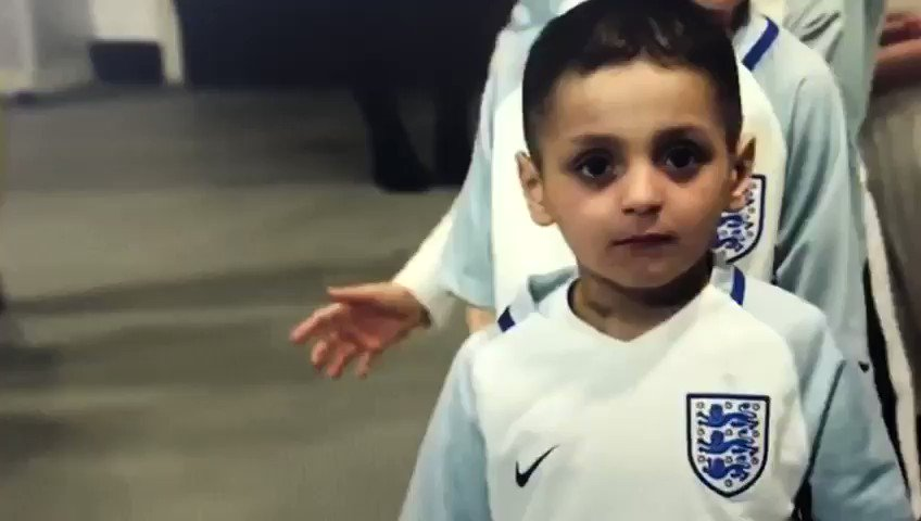 Good luck @England Bradley salutes you, he is looking down from heaven cheering you on 🏴