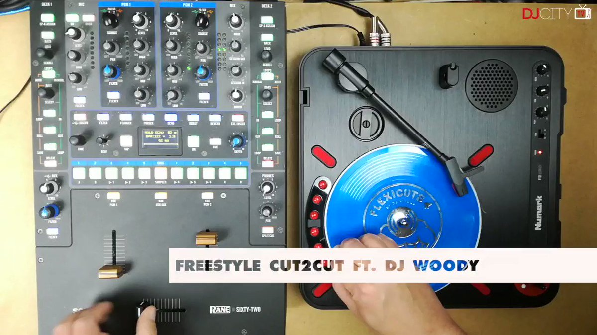 "Image for the Tweet beginning: .@djwoodymusic demonstrates his ""Flexicuts 4"""
