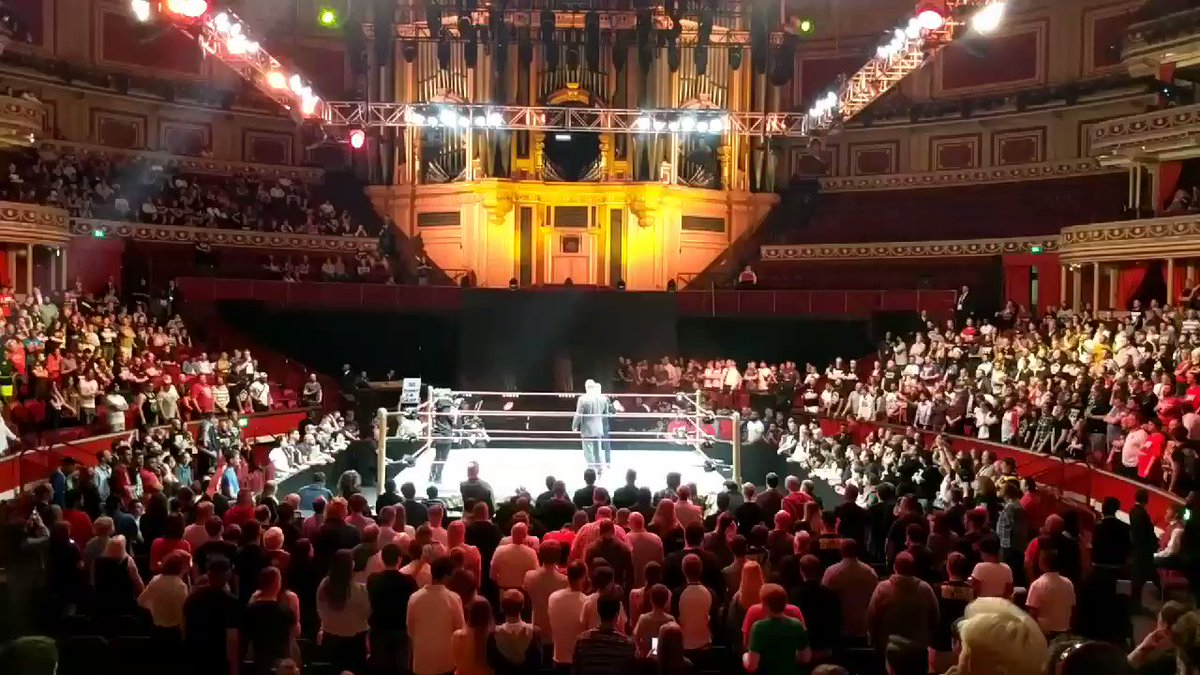 Triple H and Johnny Saint announce the launch of the NXT UK brand. #WWEUKCT