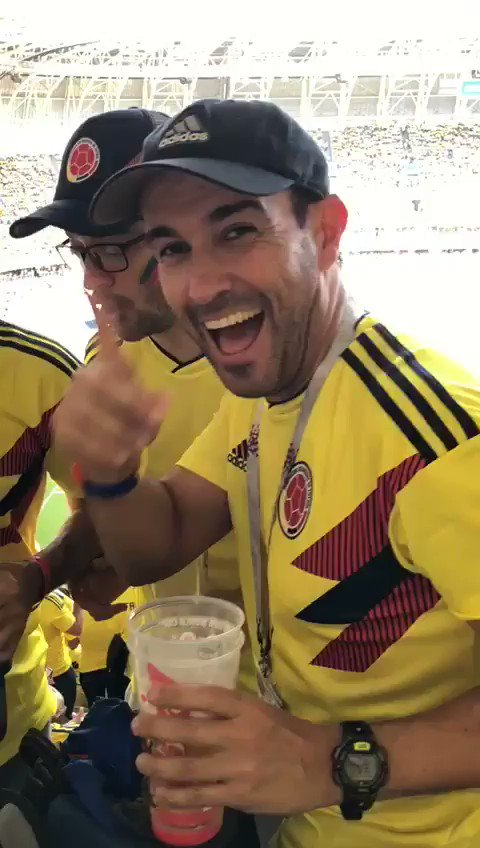 Colombia fans taking fake binoculars into the stadium to sneak in booze. Heroes. 😎😂