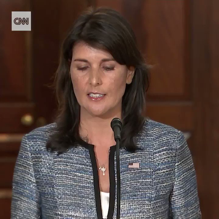 BREAKING: US Ambassador to the United Nations Nikki Haley has announced the United States is withdrawing from the UN Human Rights Council, accusing the body of bias against US ally Israel and a failure to hold human rights abusers accountable cnn.it/2tbcpGJ