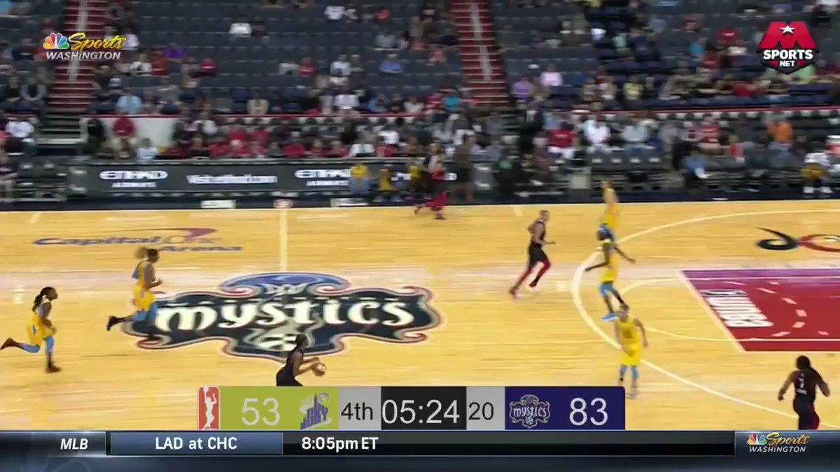 2-for-3 from 3️⃣ in 4 min... OKAY TAYLER HILL!! #MysticsSky #WNBAVote