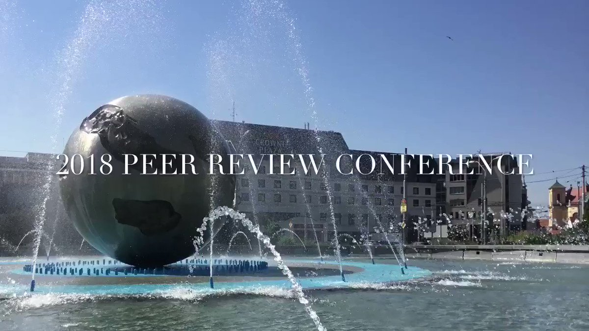 Image for the Tweet beginning: 2018 Peer Review Conference kicks