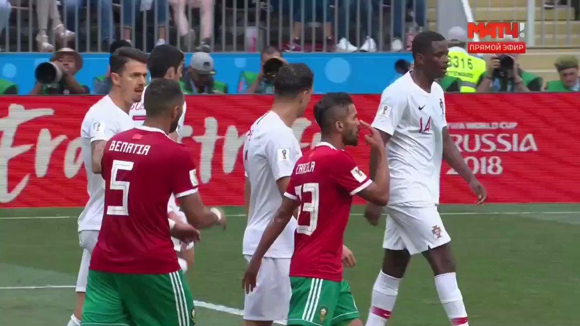 Как марокканский футболист избил португальца