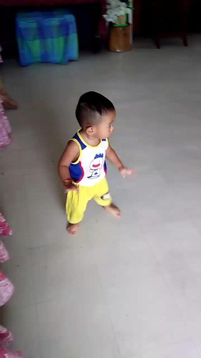 18 month old Elis new jam #SangriaWine #SangriaWineChallenge #SangriaWineDanceChallenge @Camila_Cabello @Pharrell