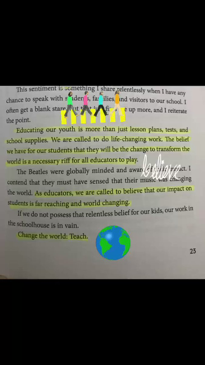 """DBC book quotes...""""Change the world: Teach!"""" #DBCChallenge #tlap #ThePepperEffect @smgaillard"""