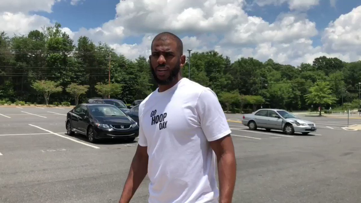 Up next, @CP3 stops by his old high school West Forsyth! #GoHoopDay