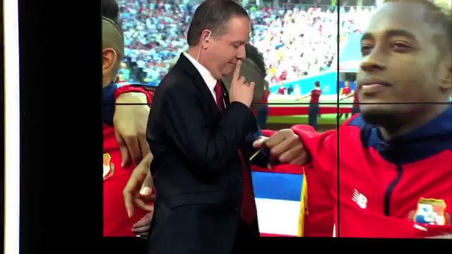 Wow. Panama commentators reaction off air while they listen for the first time the Panama anthem at the World Cup. I totally, totally understand them